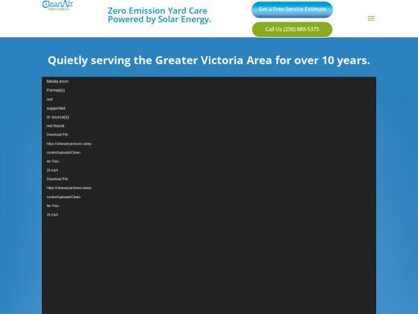 Screenshot of cleanairyardcare.ca