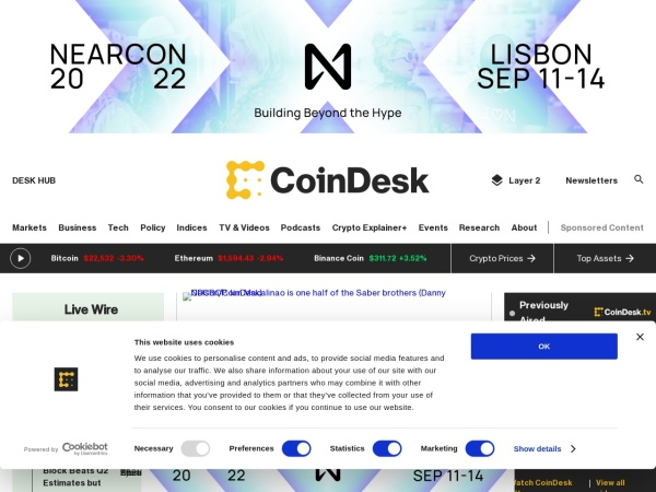 coindesk crypto news home page cryptomaniac.in