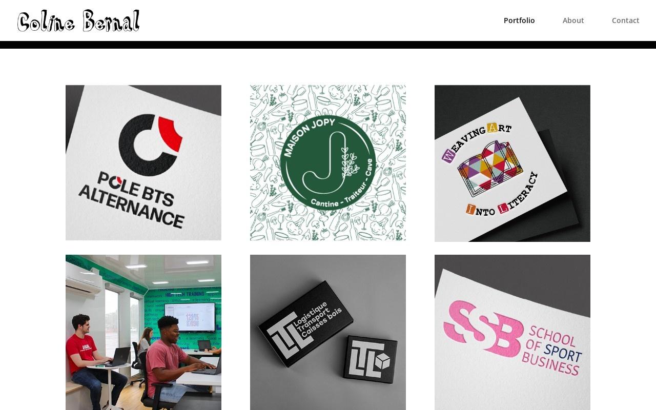 Screenshot of colinebourrigan.com