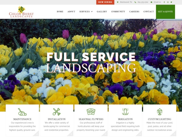 Screenshot of colorburstlandscapes.com