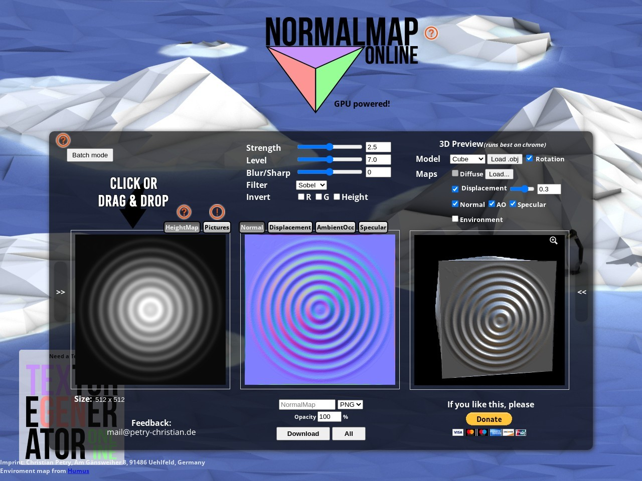 http://cpetry.github.io/NormalMap-Online/