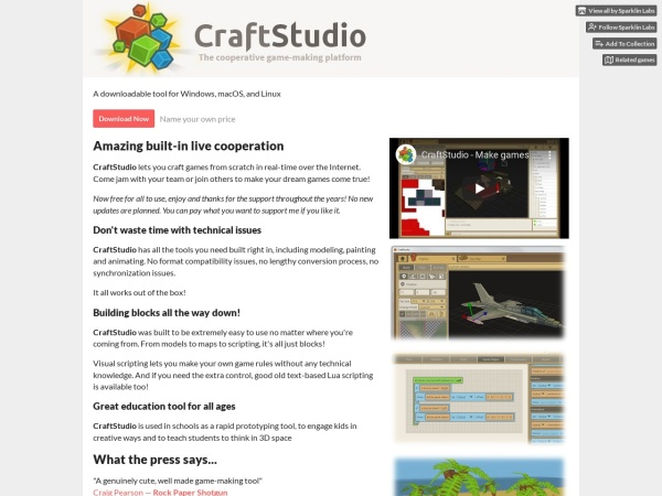 Screenshot of craftstud.io