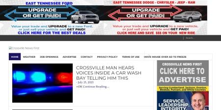 Screenshot of crossvillenews1st.com