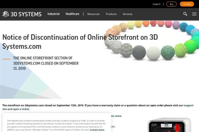 Screenshot of cubify.com