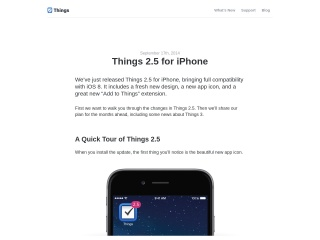 Things 2.5 for iPhone