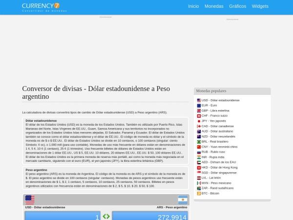 Captura de pantalla de currency7.com