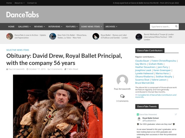 http://dancetabs.com/2015/10/obituary-david-drew-royal-ballet-principal-with-the-company-56-years/