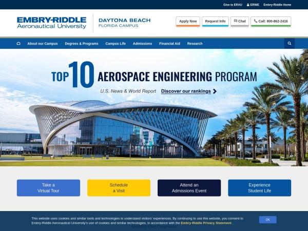 Screenshot of daytonabeach.erau.edu
