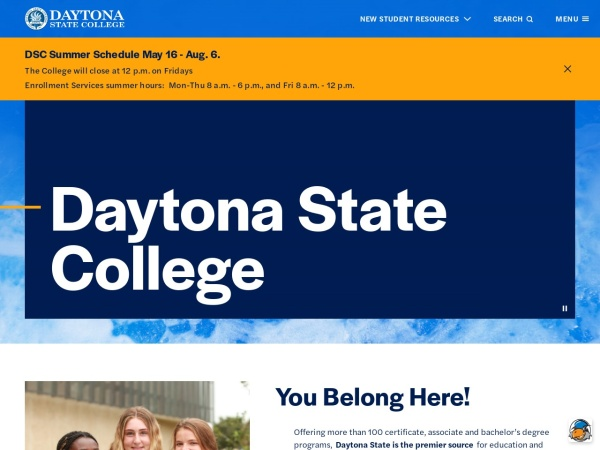 Screenshot of daytonastate.edu