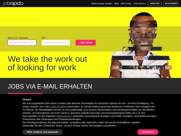 Suchmaschine JobRapido.de