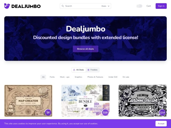 Screenshot of dealjumbo.com
