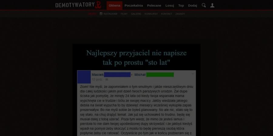 Screenshot of demotywatory.pl