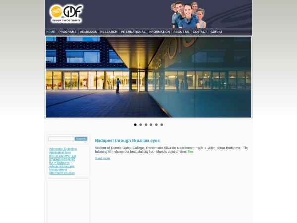 Screenshot of dennis-gabor-college.eu
