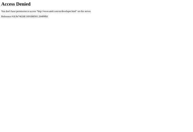 Screenshot of developer.amd.com