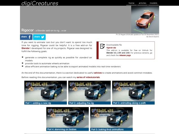 Screenshot of digicreatures.net