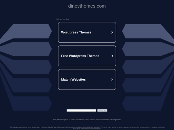 DinevThemes homepage