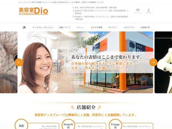 Screenshot of dio-group.jp