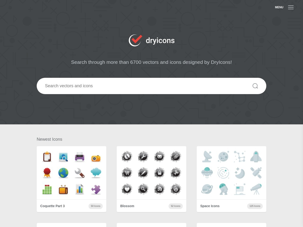 Screenshot of dryicons.com