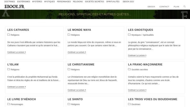 Screenshot of eboox.fr