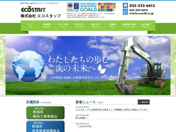 Screenshot of ecostaff.co.jp