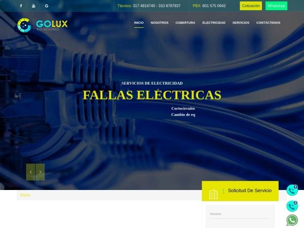 Captura de pantalla de electricistabogota.com