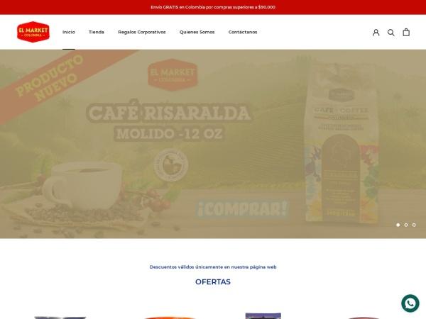 Captura de pantalla de elmarketcolombia.com