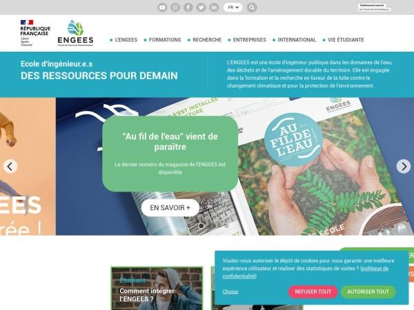 Screenshot of engees.unistra.fr