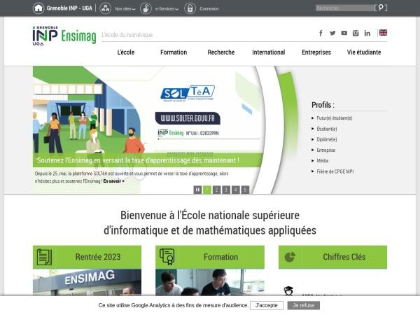 Screenshot of ensimag.grenoble-inp.fr