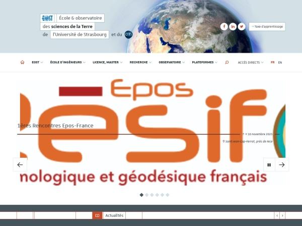 Screenshot of eost.unistra.fr