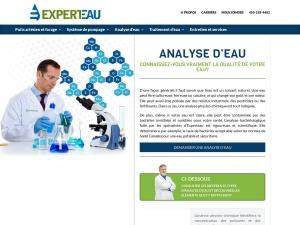 Analyse d'eau potable – analyse qualité de l'eau