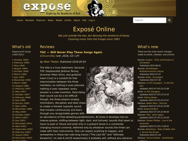 Screenshot of expose.org