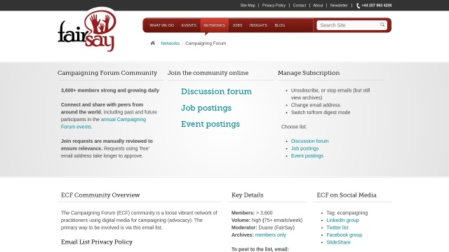 Screenshot of fairsay.com