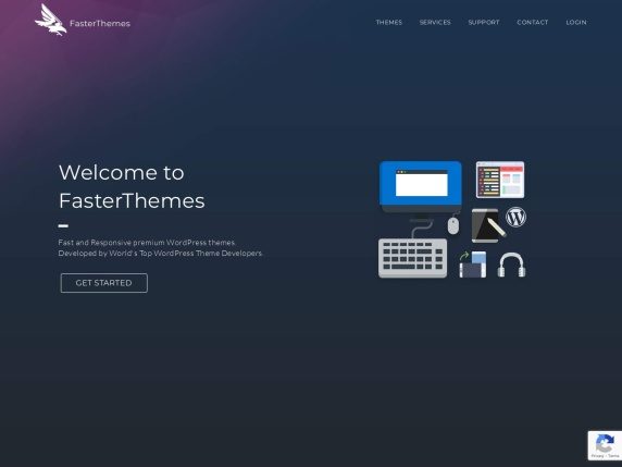 FasterThemes homepage