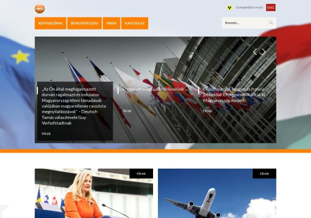 Screenshot of fidesz-eu.hu