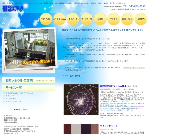 Screenshot of film-tech.co.jp