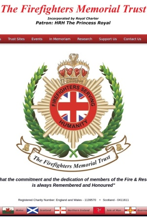 Screenshot of firefightersmemorial.org.uk