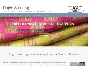 Website screenshot of Flight Weaving