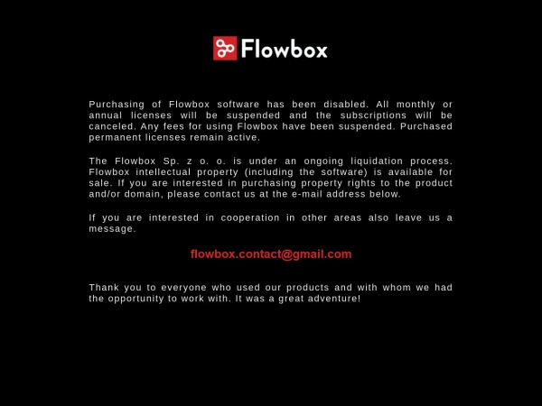 Screenshot of flowbox.io