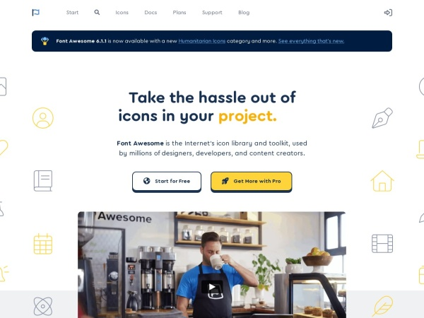 Screenshot of fontawesome.io