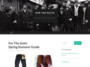For The Suits using the Hemingway Rewritten WordPress Theme