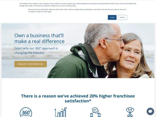 Screenshot of franchise.qualicare.com