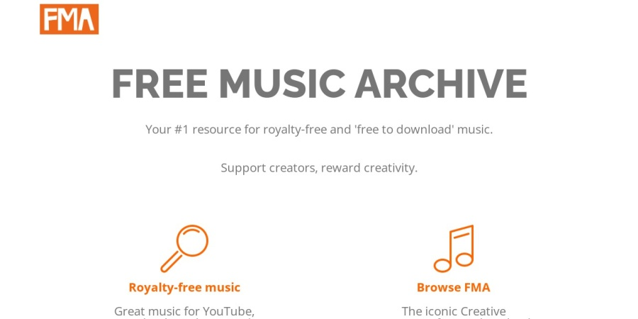Screenshot of freemusicarchive.org