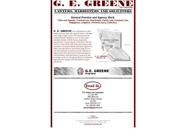 Screenshot of gegreene.com