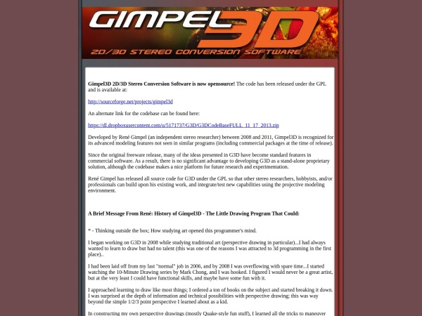 Screenshot of gimpel3d.com