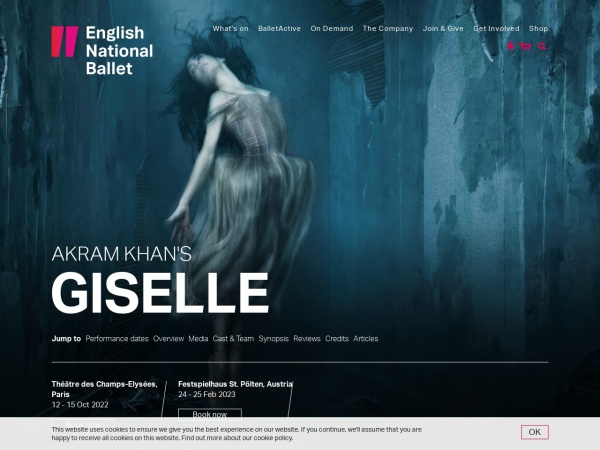 Screenshot of giselle.ballet.org.uk