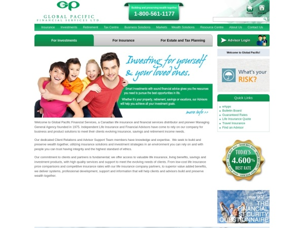 Screenshot of globalpacific.com