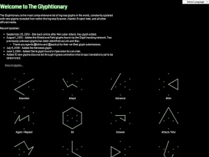 Screenshot of glyphtionary.com