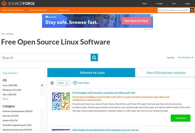 Screenshot of gmic.sourceforge.net