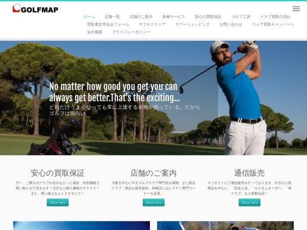 Screenshot of golfmap.jp