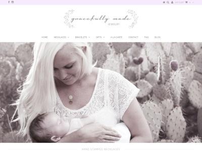 Screenshot of gracefullymadejewelry.com